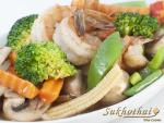 Photograph of food cooked at Sukhothai Hornchurch